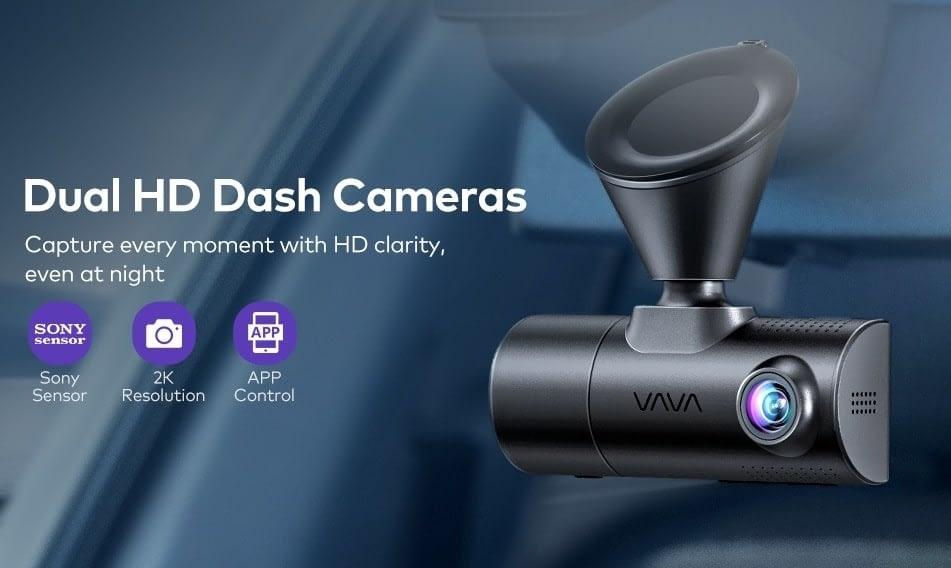 camera hanh trinh vava dual dash cam 2k