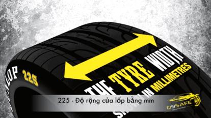 ký hiệu trên lốp xe ô tô