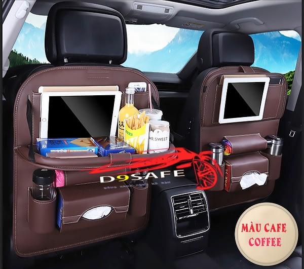 túi treo đồ đa năng xe hơi màu cafe