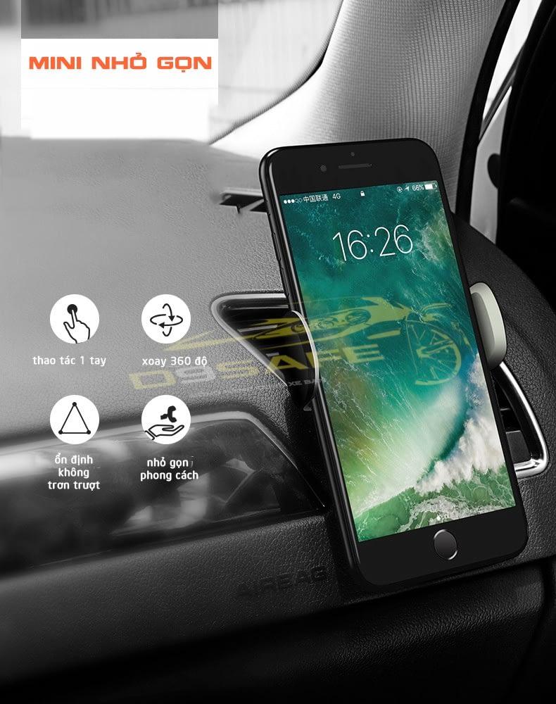 kẹp điện thoại cửa gió điều hòa xe hơi
