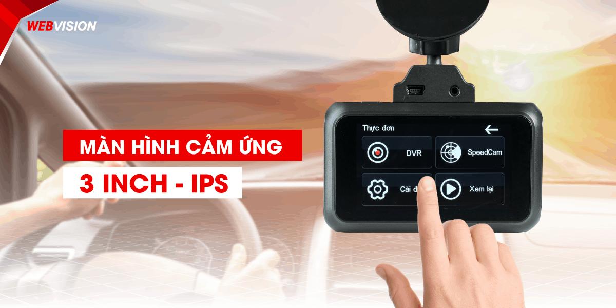 camera hanh trinh webvision A38 man hinh ips
