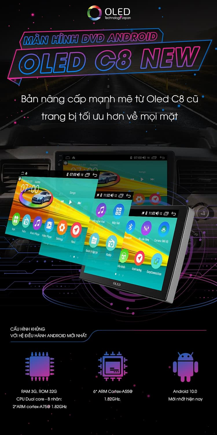 man hinh android oled c8 new