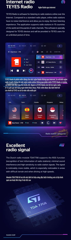 chuc nang radio online teyes cc3
