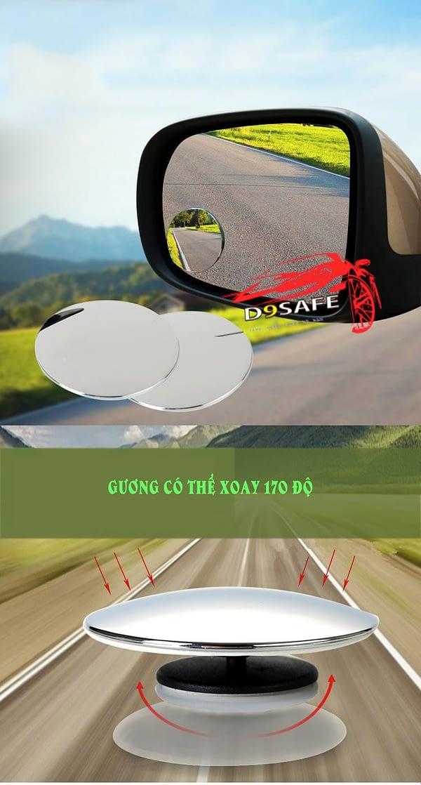 gương cầu lồi xe hơi tăng góc nhìn